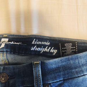 7 For All Mankind Kimmie Straight Jeans size 32